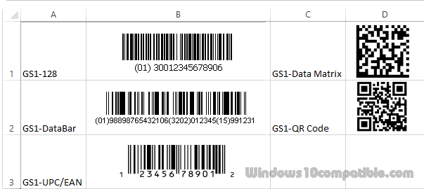 GS1 Linear and 2D Barcode Font Suite 17 05 Free download